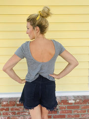 Chaser Scoop Back Flouncy Tee