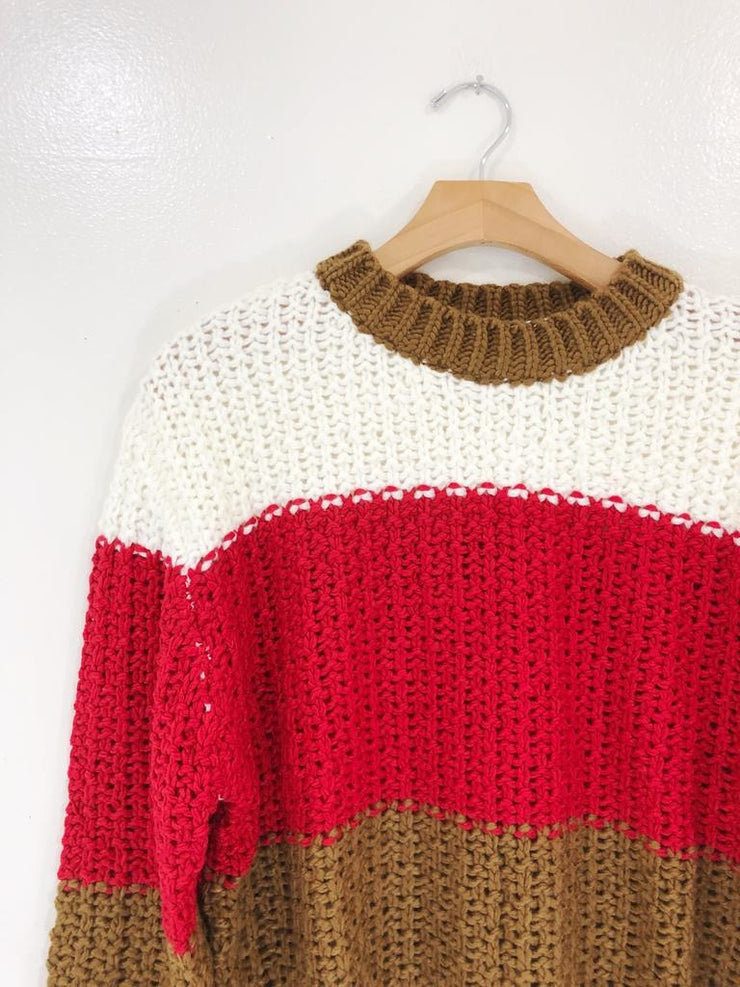 Jonnie Color Block Sweater