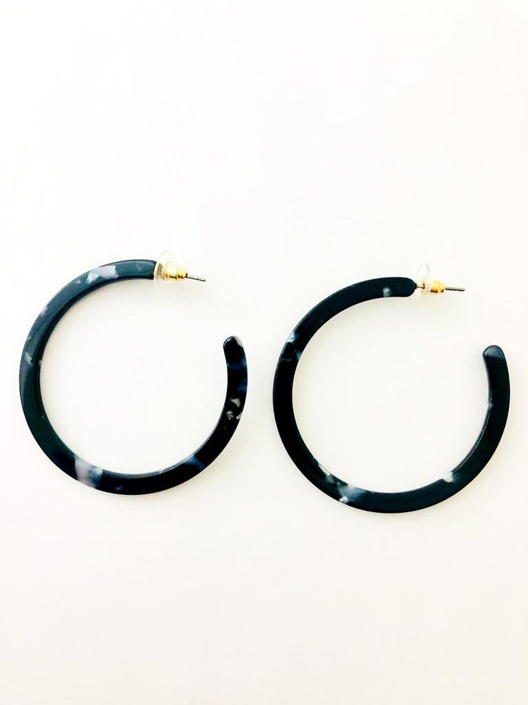 Acetate Hoop Earrings