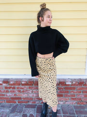 Audrey 3+1 Seriously Cropped Sweater