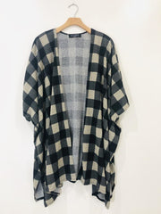 Audrey 3+1 Checker Cardigan
