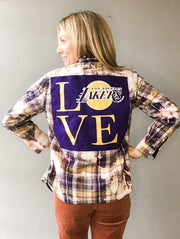 LOVE Lakers Vintage Tee Flannel