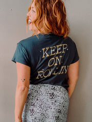 Daydreamer Keep on Rollin Girlfriend Tee