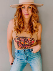 Country and Western Lace Tank