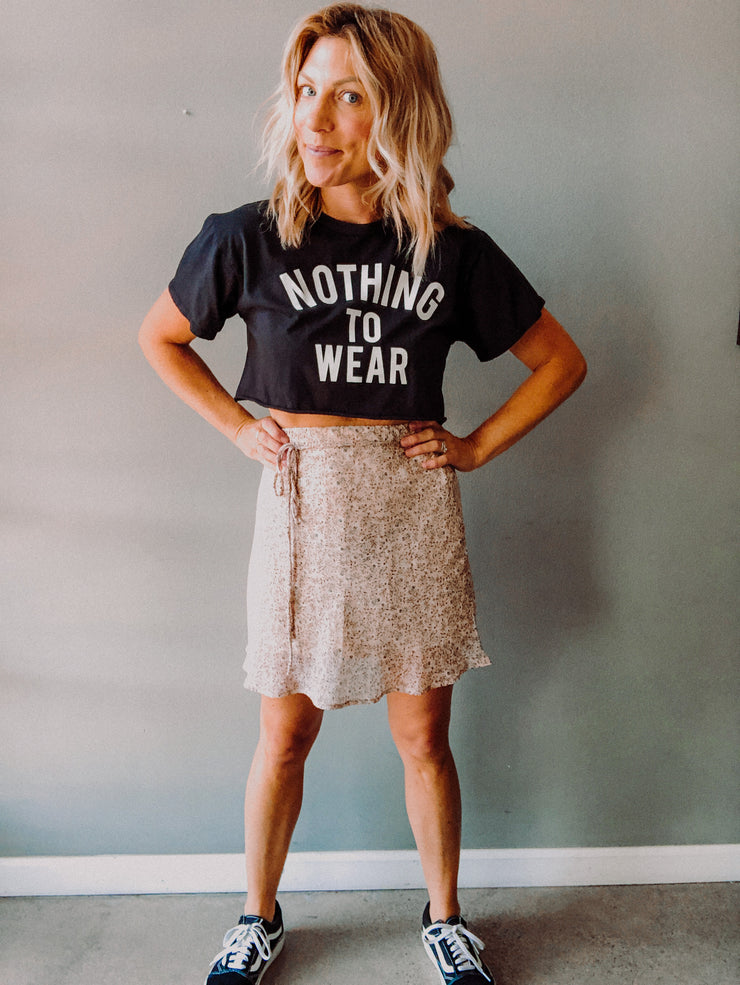 Nothing To Wear Crop Tee