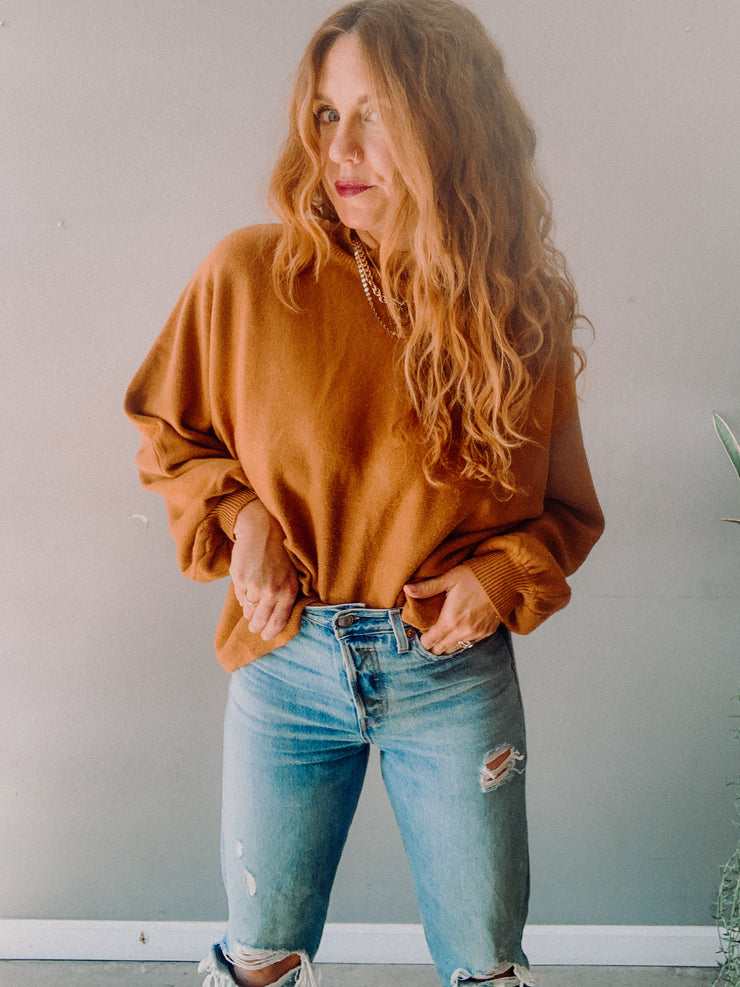 Woodlands Puff Sleeve Sweater