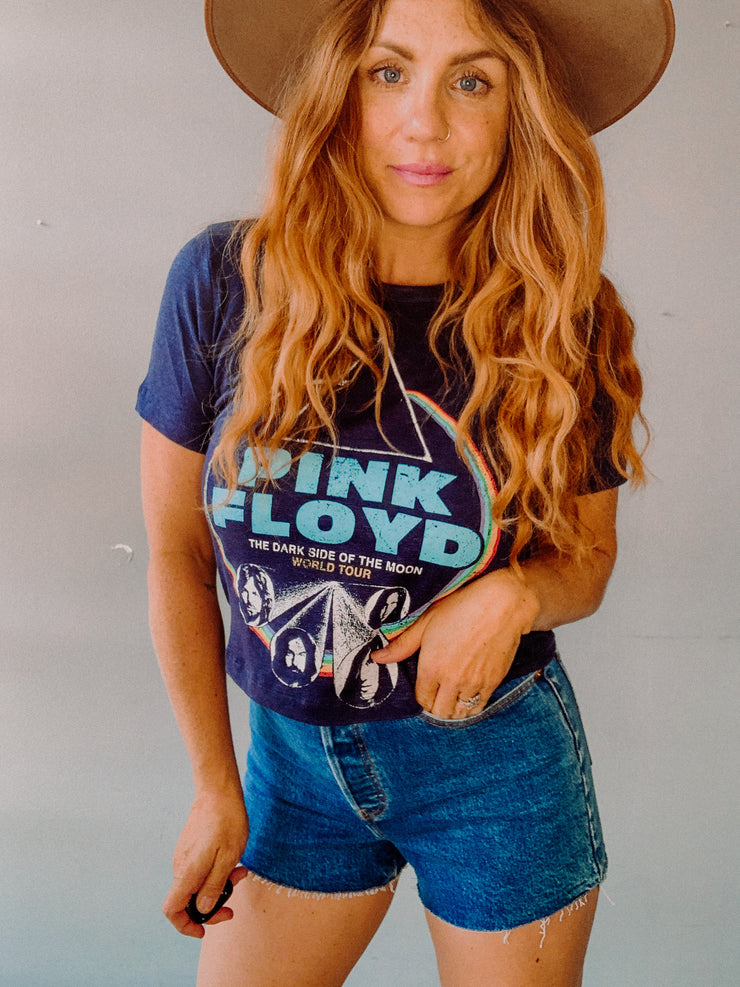 Pink Floyd Linen Cropped Easy Tee