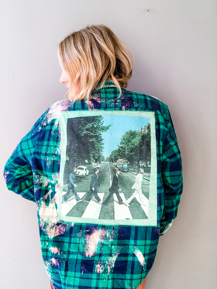 The Beatles Vintage Band Tee Flannel