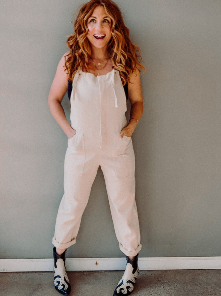 Canvas Overall Jumpsuit