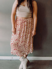 Pretty Pleated Midi Skirt