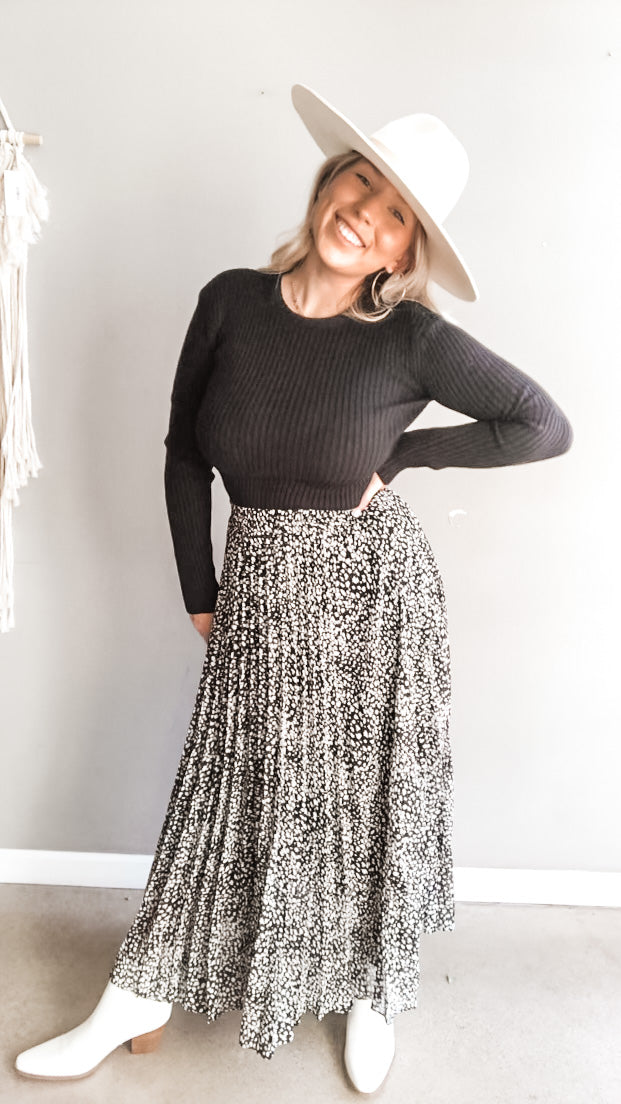 Lizzie Pleated Skirt