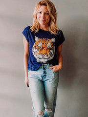 Chaser Tiger Portrait Crew Neck