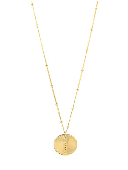 Small Aster Coin Necklace