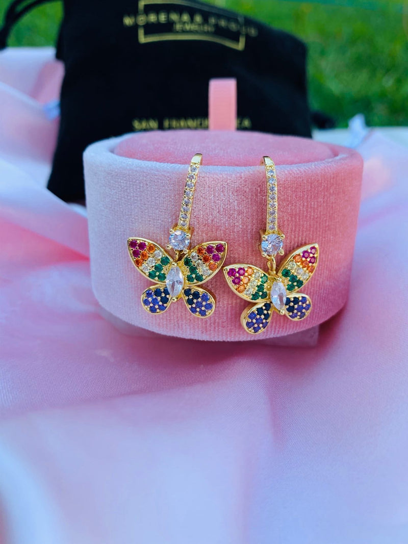 Flutter Rainbow Earrings