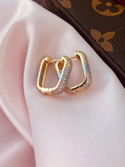 Oblong Tri-Gold Hoops