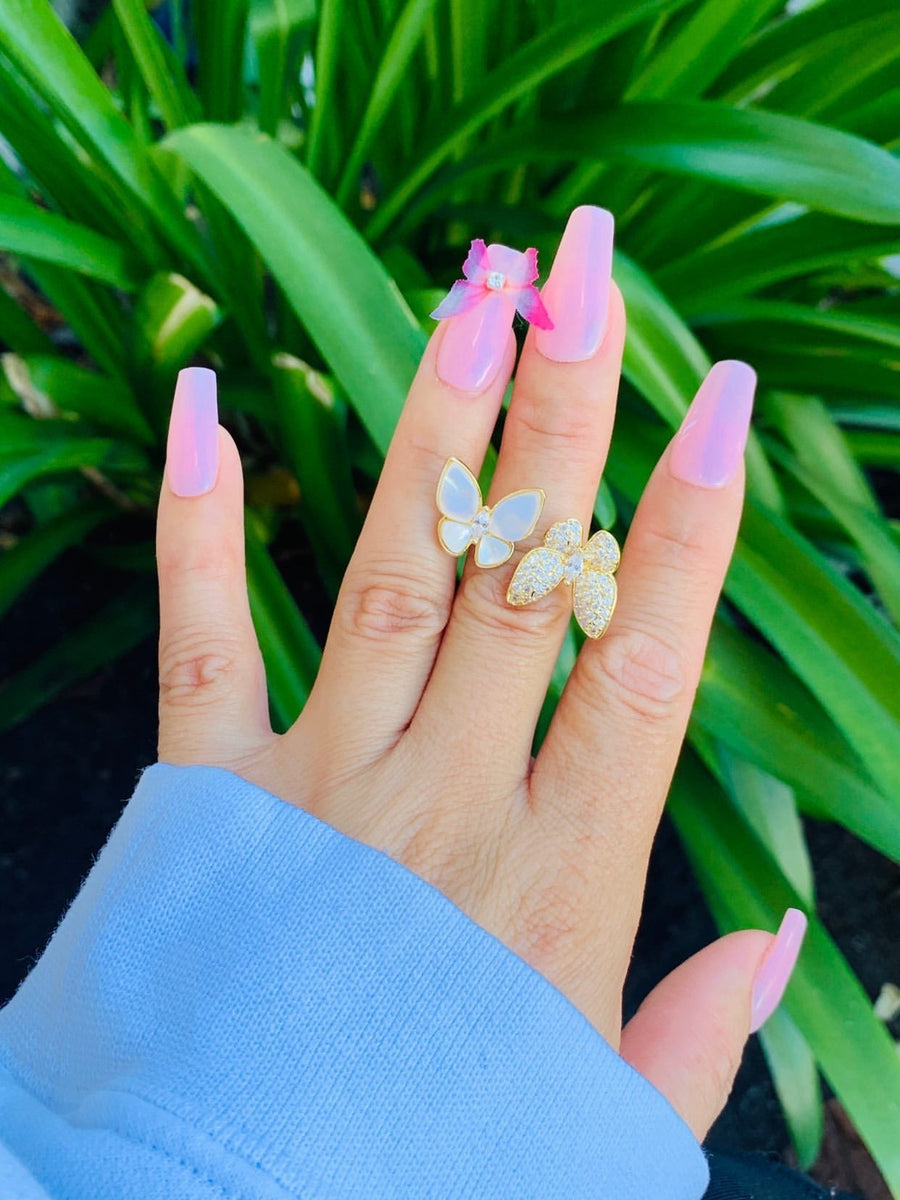 Butterfly Shell Ring