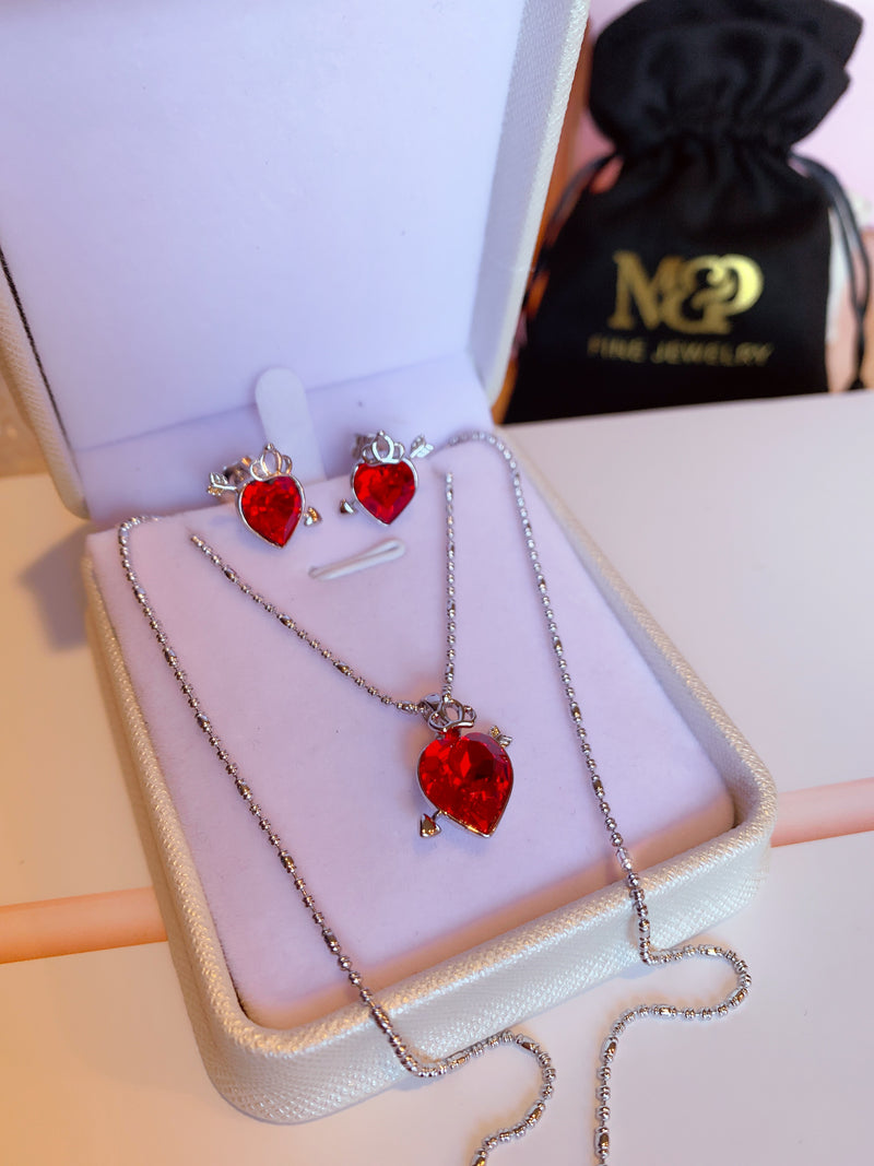 Cupid Heart Necklace set