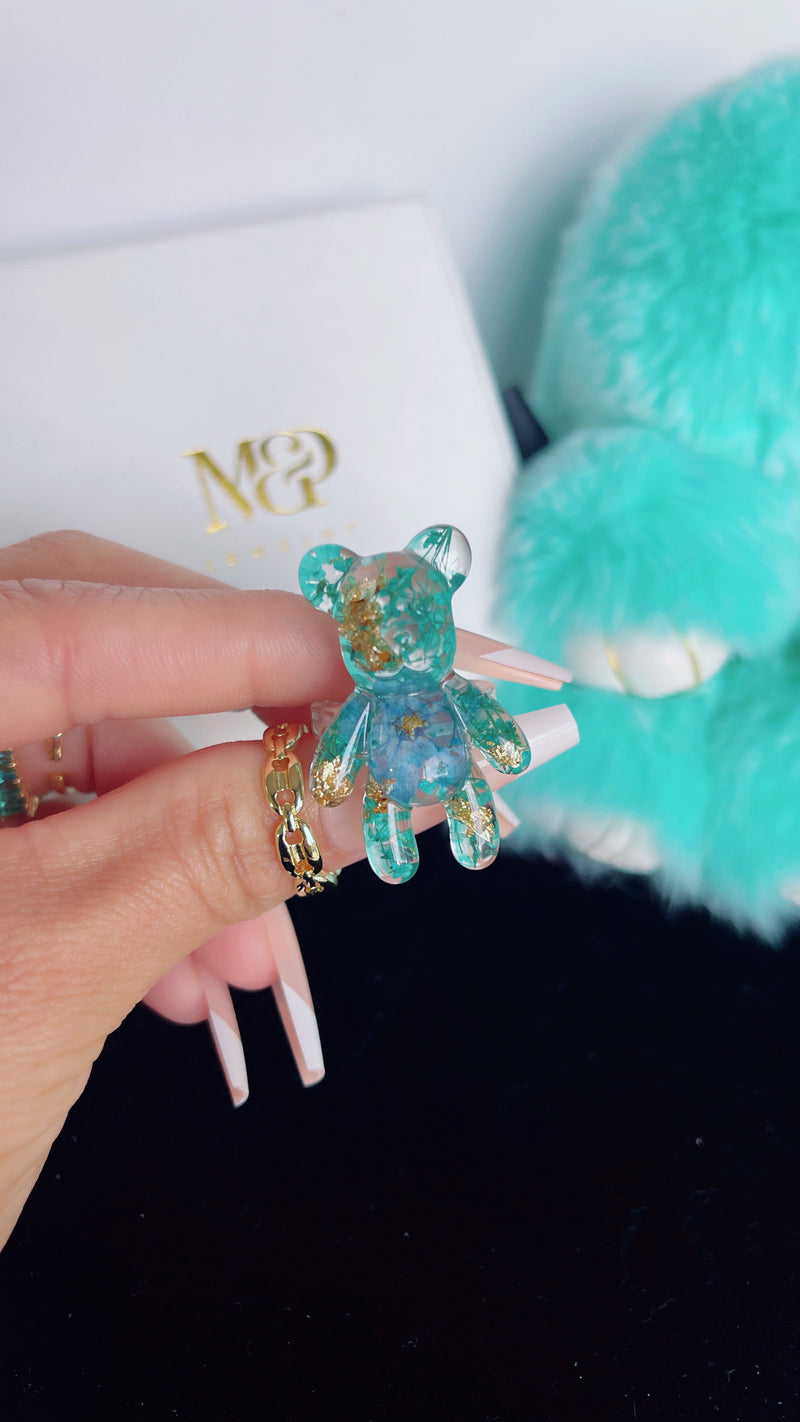 Turquoise Gummy Bear Ring