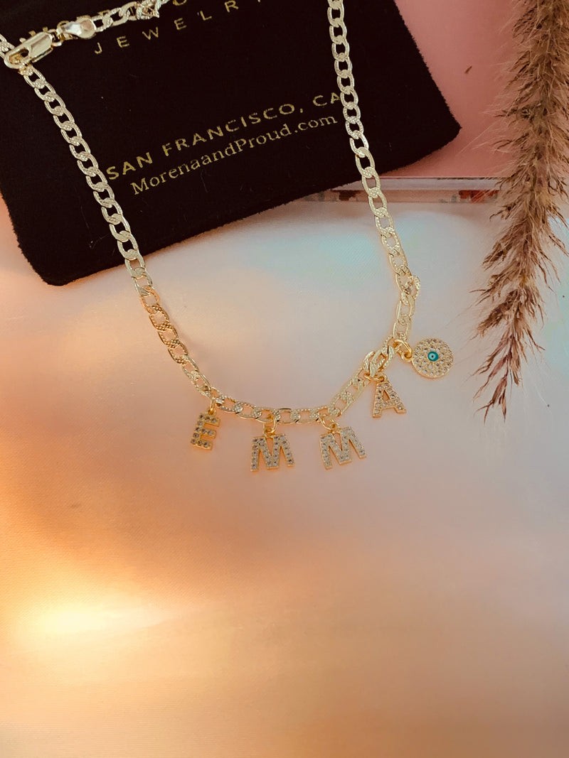 Gold Custom Name Necklace