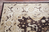 12X15 Brown Veg Dyed Oushak Rug