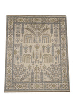 8X10 Beige Hand-Knotted Oushak Rug