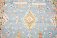 8X11 Antique Cotton Indian Agra with Bird Motif, circa 1900