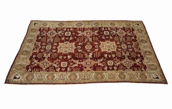 9X16 Antique Indian Agra, circa 1890