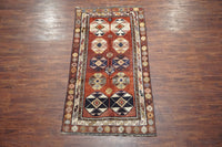 4X8 Antique Tribal Rug, circa 1940
