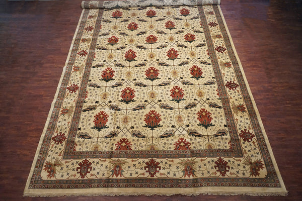 14X25 Art & Craft Hand-Knotted Wool Area Rug