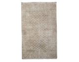 4X7 Antique Indian Cotton Agra Rug, circa 1920