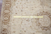 11X13 Antique Beige and Brown Indian Rug, circa 1890