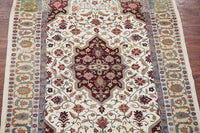 6X9 Antique Cotton Agra Rug with Abrash, circa 1900