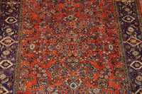 7X12 Red Persian Sarouq Rug, circa 1930