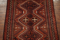 5X8 Antique Tribal Rug with Duck Design, circa 1940