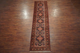 3X14 Antique Sarab Runner, circa 1930