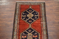 4X13 Antique Sarab Gallery Runner, circa 1940