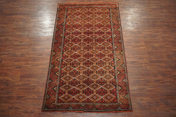 5X10 Tribal Persian Baluchi Gallery Runner, circa 1900
