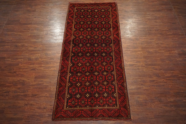 5X13 Antique Tribal Baluchi Gallery Runner, circa 1900
