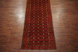 5X13 Black Tribal Persian Baluchi Gallery Runner, circa 1900