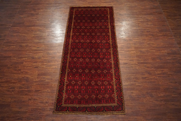5X13 Baluchi Antique Gallery Runner, circa 1930