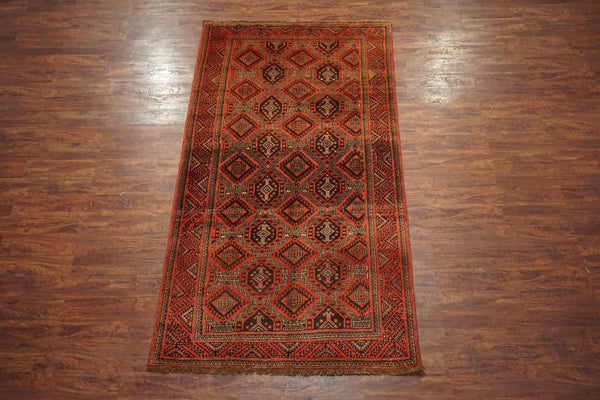 5X10 Baluchi Antique Gallery Runner, circa 1930