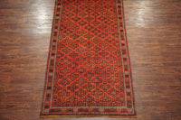5X10 Antique Tribal Turkoman Gallery Runner, circa 1940