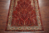 7X11 Persian Antique Tabriz with Birds and Tree of Life Design, circa 1940