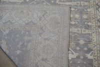 12X15 Green-Gray Oushak Area Rug