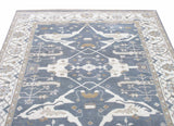 8X10 Gray Oushak Area Rug