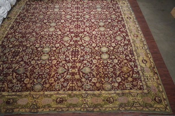 23X26 Antique Indian Agra Rug. circa 1890