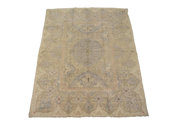 9X12 Antique Cotton Agra, circa 1920