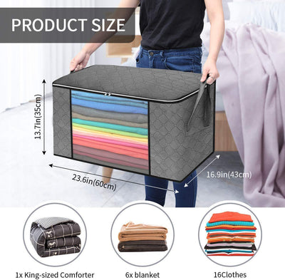 Waterproof Portable Storage Bags for Winter Clothes, Quilts, Blanket etc
