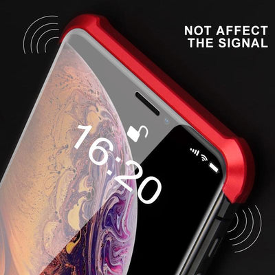 Double-sided Glass Magnetic Phone Cover, Shockproof and Borderless