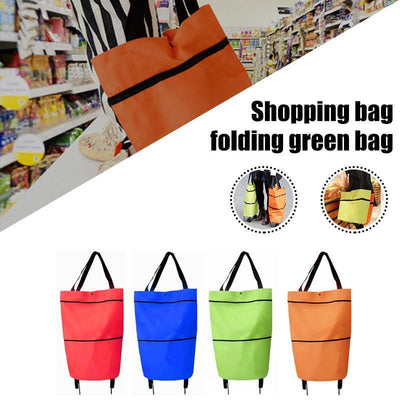 Foldable Shopping Bag With Wheels